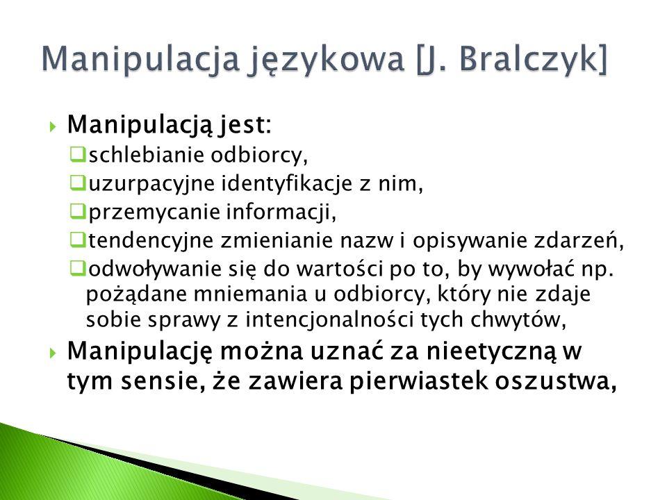 Manipulacja językowa [J. Bralczyk]